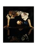 Narcissus, C.1597-99 Giclée-tryk af  Caravaggio