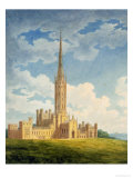 North-West View of Fonthill Abbey Giclee Print by Charles Wild