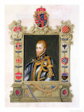 "Portrait of Philip II King of Spain (1527-98) from ""Memoirs of the Court of Queen Elizabeth"" Giclee Print by Sarah Countess Of Essex"