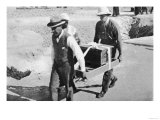 Howard Carter and Mr. Callender Carrying a Casket of Jewels from Tutankhamun's Tomb Giclee Print