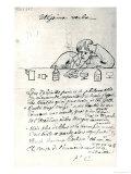 Ultissima Verba, Drawing of Arthur Rimbaud Premium Giclee Print by Paul Verlaine