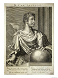 D. Octavius Augustus Emperor of Rome 27 BC - 14 AD Giclee Print by Titian (Tiziano Vecelli) 