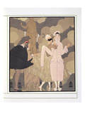 Surprise (W/C on Paper) Giclee Print by Georges Barbier