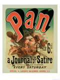 "Reproduction of a Poster Advertising ""Pan,"" a Journal of Satire, Edited by Alfred Thompson Giclee Print by Jules Chéret"