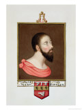 "Portrait of Sir Thomas Wyatt the Younger (c. 1521-54) from ""Memoirs of Court of Queen Elizabeth"" Reproduction procédé giclée par Sarah Countess Of Essex"