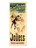 "Reproduction of a Poster Advertising the Toyshop ""Aux Buttes Chaumont"" Giclee Print by Jules Chéret"
