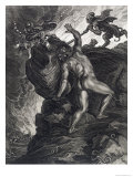 Sisyphus Pushing His Stone up a Mountain, 1731 Giclee Print by Bernard Picart