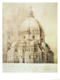 "Florence Cathedral from the East, from ""Fragments D'Architecture Du Moyen Age Et De La Renaissance"" Giclee Print by Eugene Duquesne"