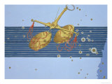 Constellation of Libra from &quot;Uranometria&quot; Giclee Print by Johann Bayer