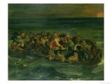 Sketch for the Shipwreck of Don Juan, 1839 Giclee Print by Eugene Delacroix