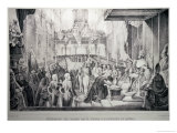 The Coronation of Dom Pedro I as Emperor of Brazil 1st December 1822 Giclee Print by Jean Baptiste Debret