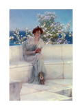 Het is lente, met de wereld is alles in orde, 1902 Gicléedruk van Sir Lawrence Alma-Tadema