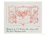The Christmas Card Horsley Designed and Sent to Henry Cole, 1843, Known as the First Christmas Card Giclee Print by John Callcott Horsley