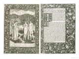 "Adam and Eve, from ""The Works of Chaucer,"" Published by Kelmscott Press, 1896 Giclee Print by William Morris"
