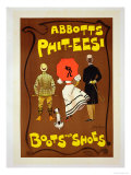 Reproduction of a Poster Advertising 'Abbotts Phit-Eesi Boots and Shoes' Lámina giclée por Dudley Hardy