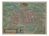 "Map of Weimar, from ""Civitates Orbis Terrarum"" by Georg Braun and Frans Hogenberg circa 1572-1617 Giclee Print by Joris Hoefnagel"