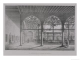 """View of the Interior of the Dervish Convent, in Cairo, from """"Monuments and Buildings of Cairo"""" Giclee Print by Pascal Xavier Coste"""