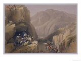 "The Wild Pass of Siri-Kajoor, from ""Sketches in Afghaunistan"" Giclee Print by James Atkinson"