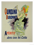 "Reprodution of a Poster Advertising ""Quinquina Dubonnet,"" 1895 Giclee Print by Jules Chéret"