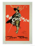 "Reproduction of a Poster Advertising ""The Chieftain,"" Savoy Theatre, 1895 Giclee Print by Dudley Hardy"