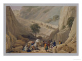 The Troops Emerging from the Narrow Part of the Defile in the Koojah Pass Giclee Print by James Atkinson
