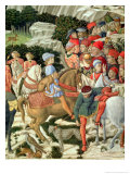 Giuliano De' Medici as Melchior, Detail from Journey of the Magi Cycle in the Chapel, circa 1460 Giclee Print by Benozzo di Lese di Sandro Gozzoli