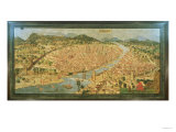 "The ""Carta Della Catena"" Showing a Panorama of Florence, 1490 Giclee Print"