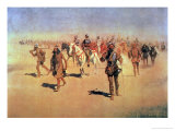 "Francisco Vasquez De Coronado Making His Way Across New Mexico, from ""The Great American Explorers"" Premium Giclee Print by Frederic Sackrider Remington"