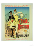 "Reproduction of a Poster Advertising ""The Lover of Dancers"" Premium Giclee Print by Jules Chéret"