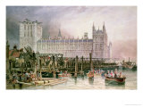 The Houses of Parliament in Course of Erection Giclee Print by John Wilson Carmichael