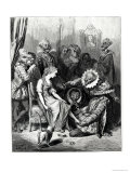 "Cinderella and the Glass Slipper,"" Illustration from ""Les Contes De Perrault"" Giclee Print by Gustave Doré"