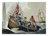 A Ship's Boat Attacking a Whale Giclee Print by John Heaviside Clark