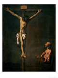 St. Luke as a Painter Before Christ on the Cross, circa 1660 Giclee Print by Francisco de Zurbarán