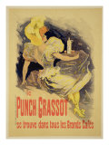 "Reproduction of a Poster Advertising ""Punch Grassot,"" 1895 Premium Giclee Print by Jules Chéret"