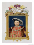 "Portrait of Henry VIII as Defender of the Faith from ""Memoirs of the Court of Queen Elizabeth"" Giclee Print by Sarah Countess Of Essex"