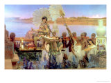Sir Lawrence Alma-Tadema - The Finding of Moses by Pharaoh's Daughter, 1904 - Giclee Baskı