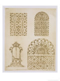 "Islamic Ironwork Grills for Windows and Wells, from ""Art and Industry"" Giclee Print by Jean Francois Albanis De Beaumont"