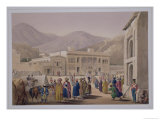 "The Durbar-Khaneh of Shah Shoojah-Ool-Moolk, at Caubul, from ""Sketches in Afghaunistan"" Giclee Print by James Atkinson"