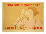 Reproduction of a Poster Advertising the &quot;Grande Brasserie Van Velsen,&quot; 1894 Giclee Print by Armand Rassenfosse