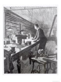 The Electric Light, Mr. Edison in His Laboratory Giclee Print