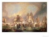 The Battle of Trafalgar in 1805 Giclee Print by William Clarkson Stanfield