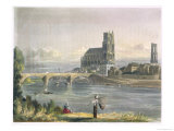 "View of Mantes, from ""Views on the Seine"" Giclee Print by John Gendall"