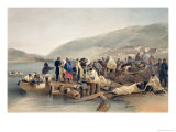 "The Embarkation of the Sick at Balaklava, Plate from ""The Seat of War in the East"" Giclee Print by William Simpson"