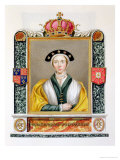 """Portrait of Anne of Cleves 4th Queen of Henry VIII from """"Memoirs of the Court of Queen Elizabeth"""" Premium Giclee Print by Sarah Countess Of Essex"""