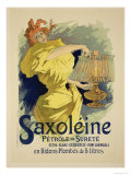 "Reproduction of a Poster Advertising ""Saxoleine,"" Safe Parrafin Oil, 1896 Giclee Print by Jules Chéret"