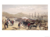 "The Railway at Balaklava, Plate from ""The Seat of War in the East,"" 1856 Giclee Print by William Simpson"