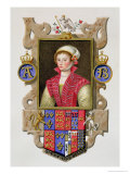 "Portrait of Anne Boleyn 2nd Queen of Henry VIII from ""Memoirs of the Court of Queen Elizabeth"" Giclee Print by Sarah Countess Of Essex"