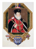 Portrait of William Cecil (1520-98) 1st Baron Burghley from Memoirs of the Court of Queen Elizabeth Reproduction procédé giclée par Sarah Countess Of Essex