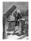 William Herschel Discovers the Planet Uranus, Giclee Print