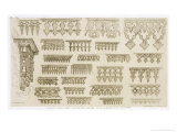 Islamic Designs for Cornice, Balcony and Mashrabiyah Decoration, from &quot;Art and Industry&quot; Giclee Print by Jean Francois Albanis De Beaumont